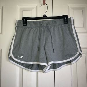 Under Armour Gray & White Shorts